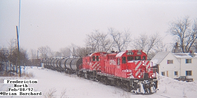 CP 1867 in Fredericton, February 8 1992. Photo by Brian Barchard
