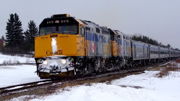 VIA 14 arriving at Miramichi