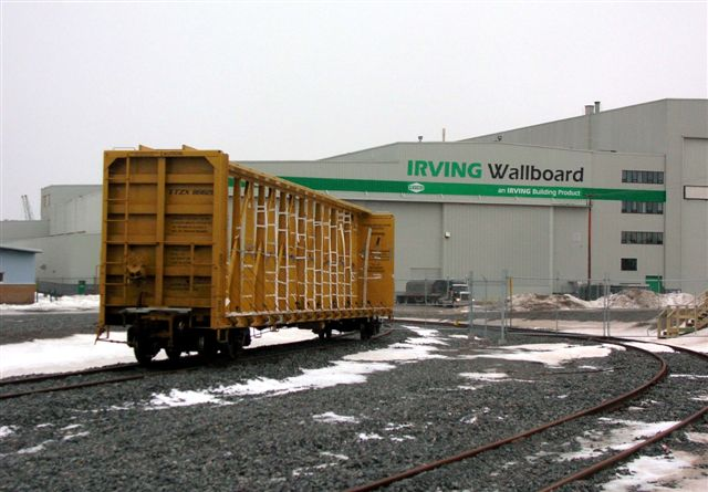 Irving Wallboard rail cars, by Ron Grant