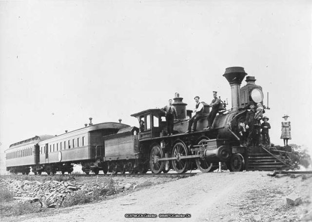 First Intercolonial train to Dalhousie, 1884