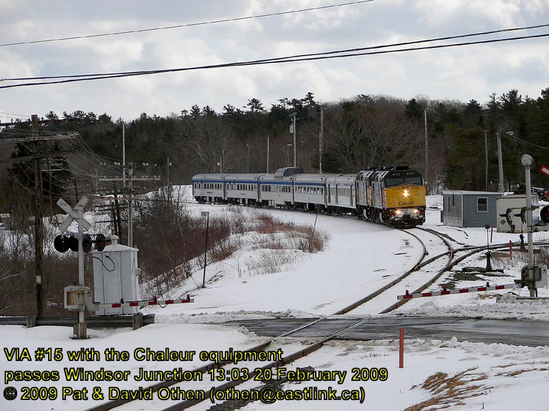 VIA 15 at Windsor Junction. Photo by David Othen