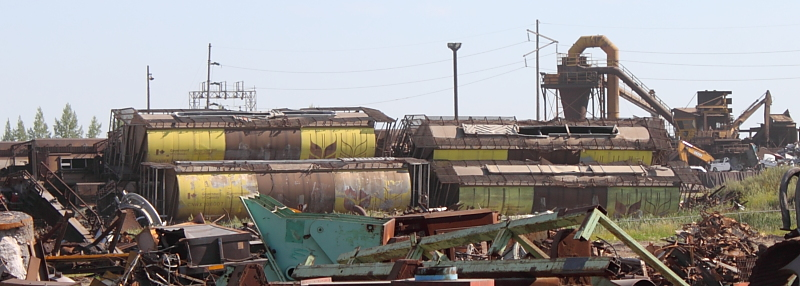 Evraz Government of Canada grain cars scrap