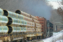 RJMA pipe train. Photo by Bob Driscoll