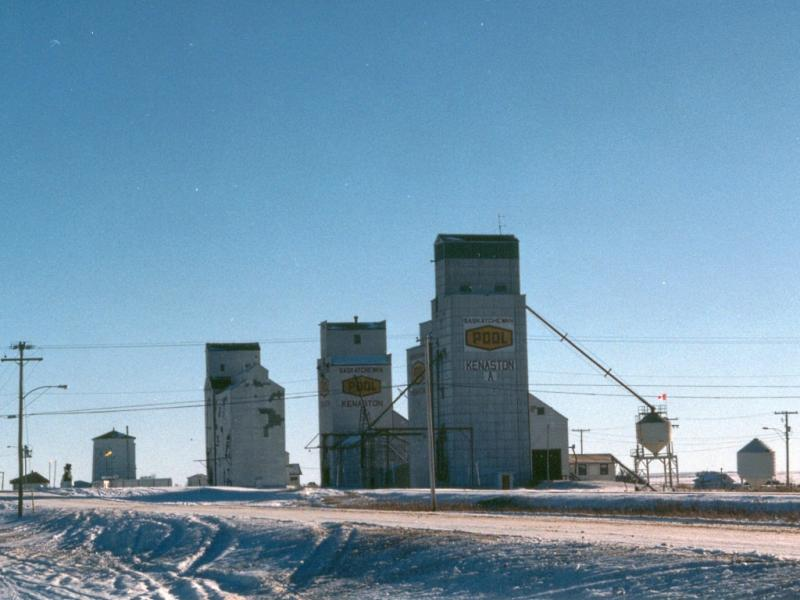 Grain elevators in Kenaston SK