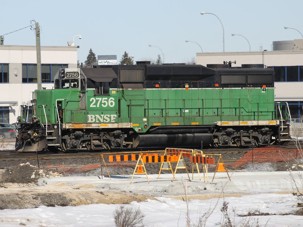 BNSF 2756 in Winnipeg, MB 2011/03/24
