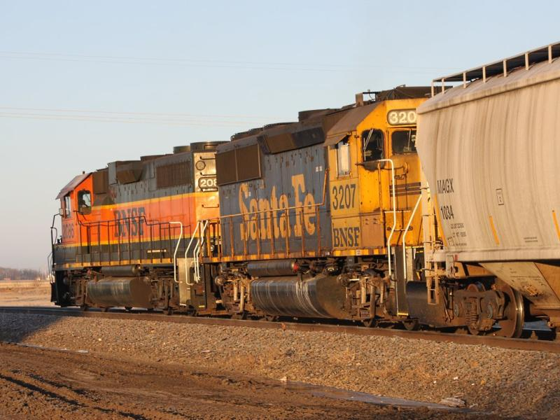 BNSF 3207 in Grand Forks