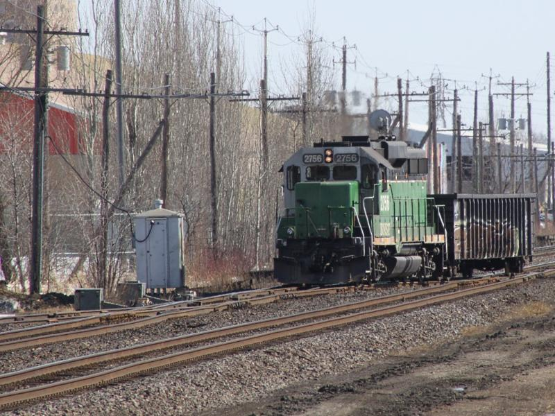BNSF 2756 in Winnipeg
