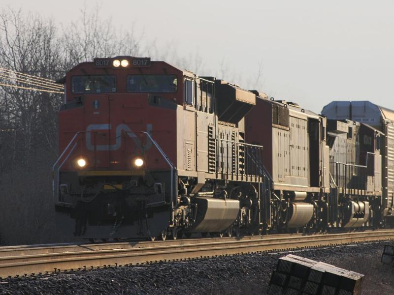 CN 8017 in Winnipeg