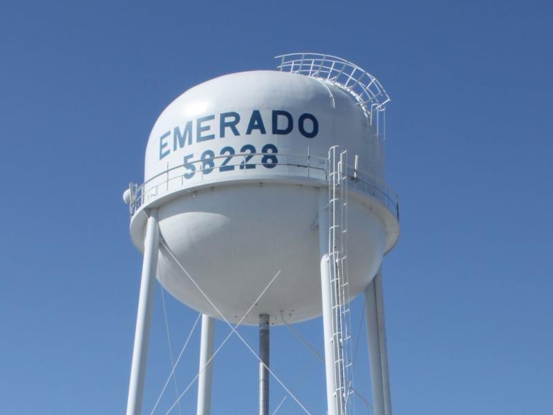 Water tower in Emerado ND