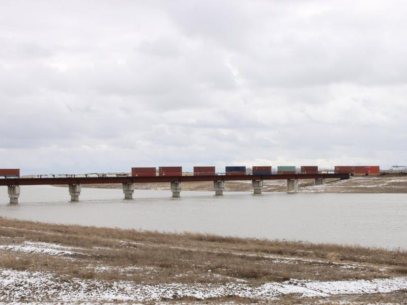 CN train over Floodway