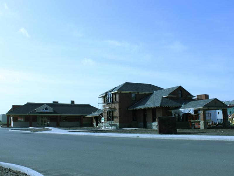 Fredericton train station and liquor store