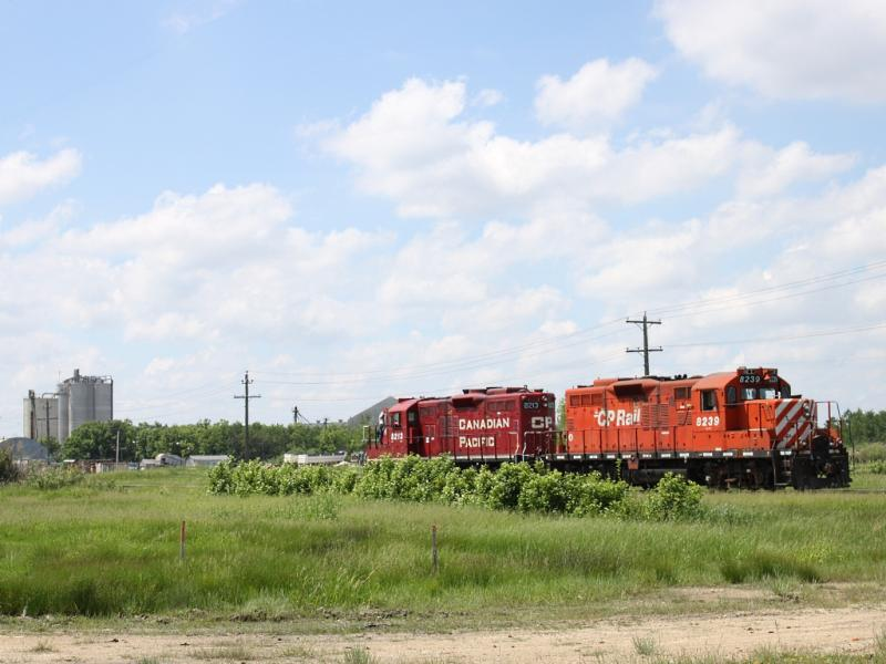 CP 8239 and 8213 in Winnipeg, MB 2011/06/16