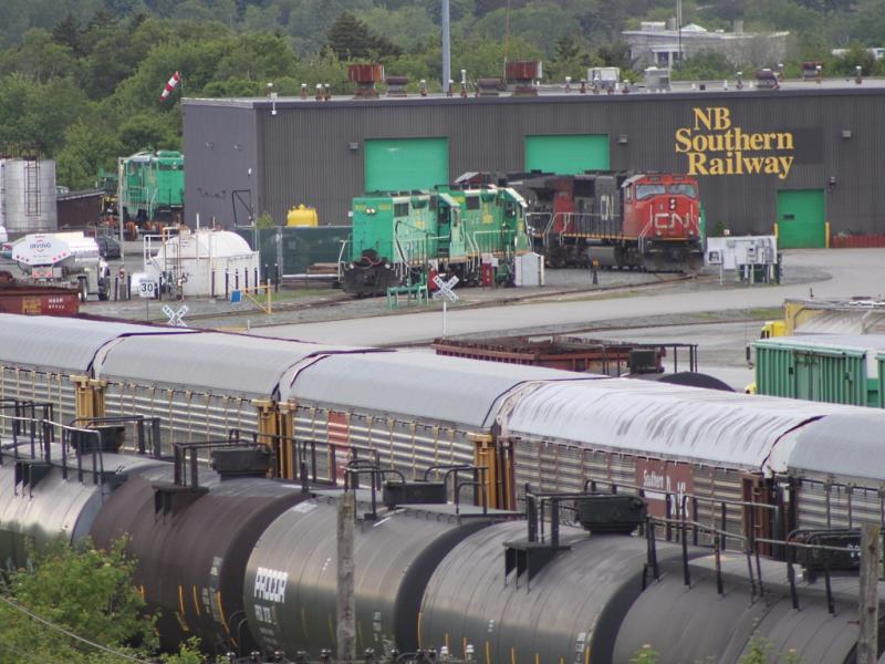 NB Southern Railway's yard in Saint John, NB 2011/06/19