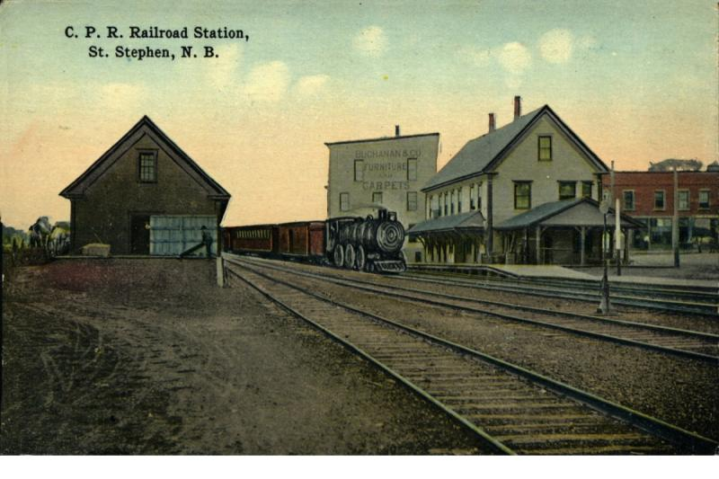 St. Stephen Railway Station, circa 1900