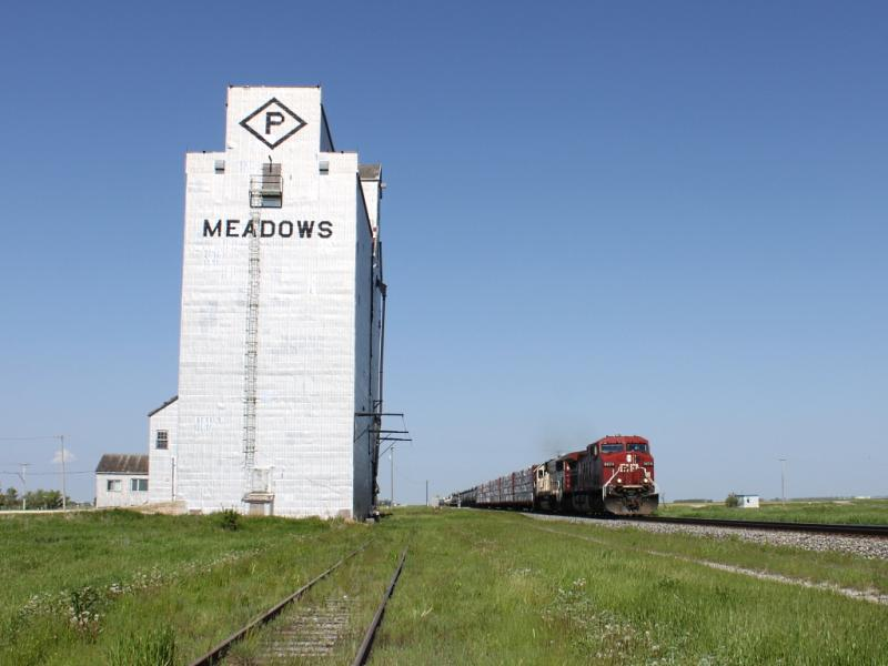 CP 9674 at Meadows, MB
