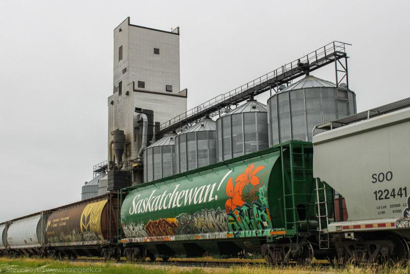 Saskatchewan grain car in La Salle Manitoba