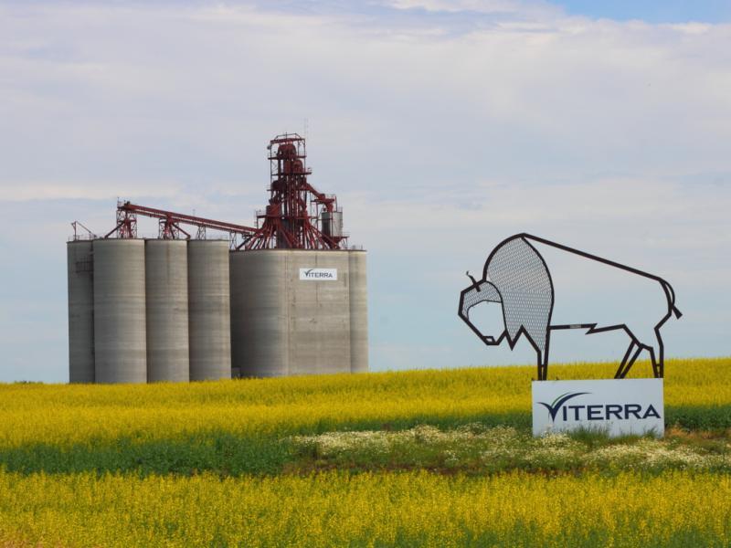 Viterra grain elevator in Balgonie Saskatchewan