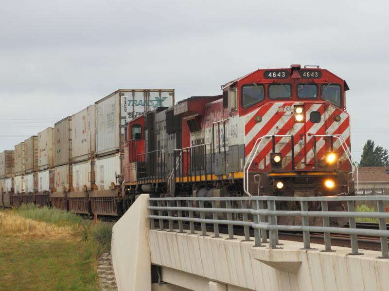 Ex BC Rail engine BCOL 4643 in Winnipeg