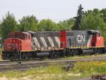CN 4795 and 4790 in Regina, SK 2011/08/05