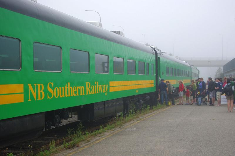 NB Southern passenger train, by David Morris