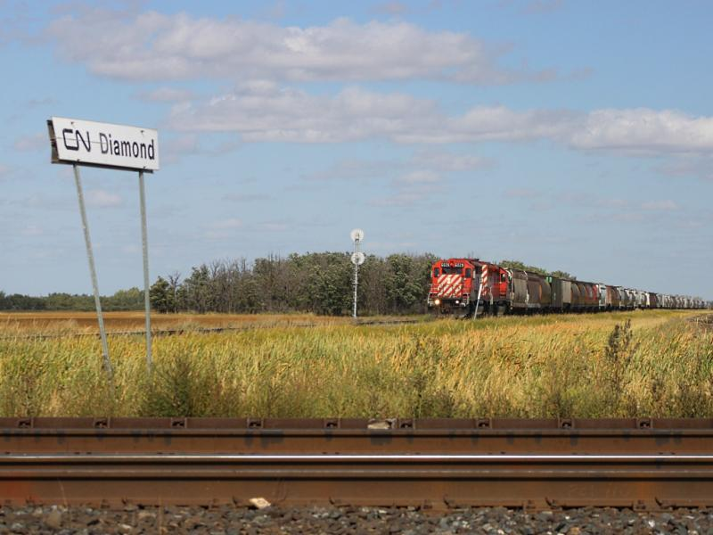 CP 6029 at Diamond outside Winnipeg, Manitoba