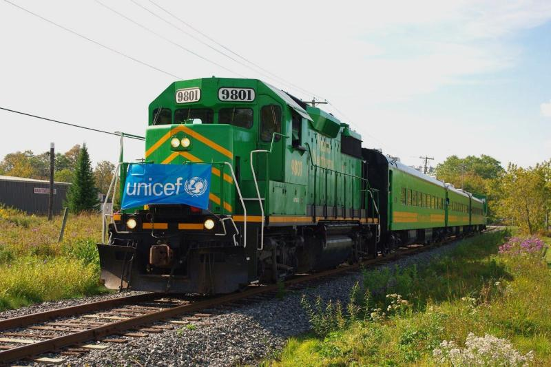 NB Southern Railway UNICEF train, photo by David Morris