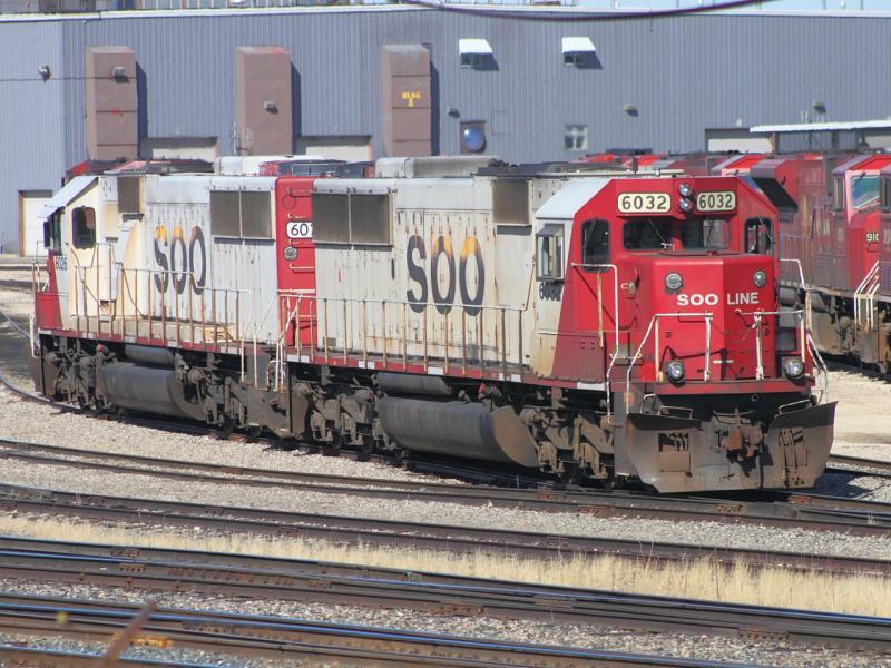 SOO 6032 and 6026 in Winnipeg
