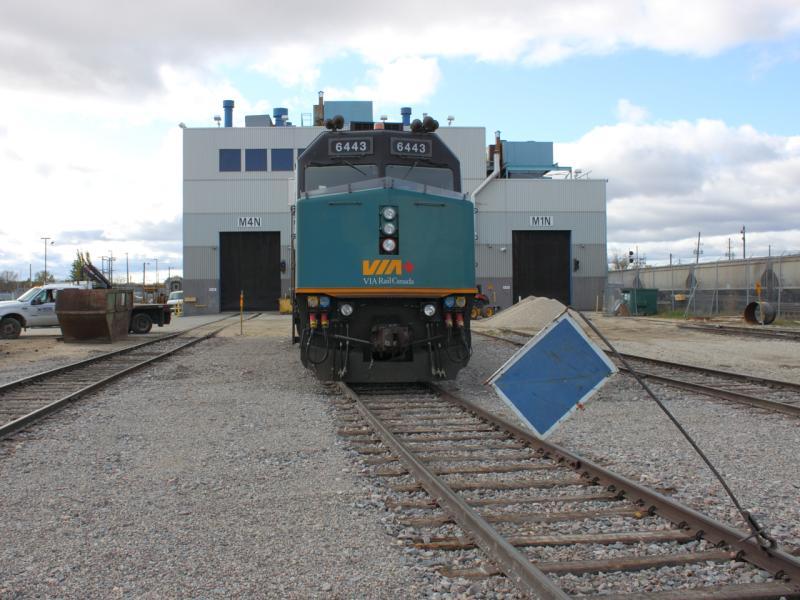 VIA 6443 at the Winnipeg Maintenance Centre 2011/10/14
