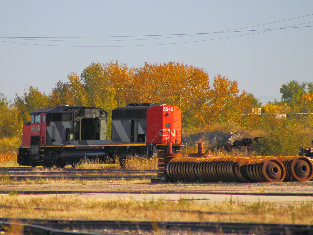 CN 5545 in Winnipeg, MB 2011/09/24