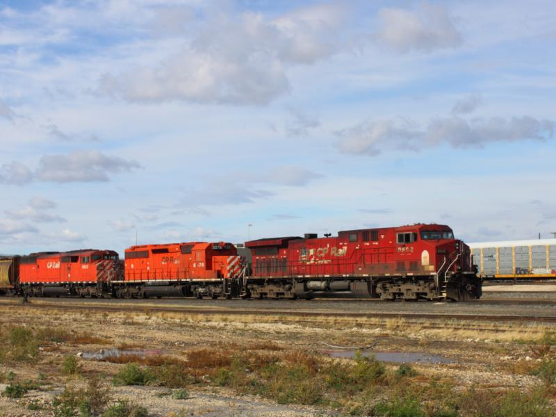 CP 9502, 6078 and 9023 in Winnipeg