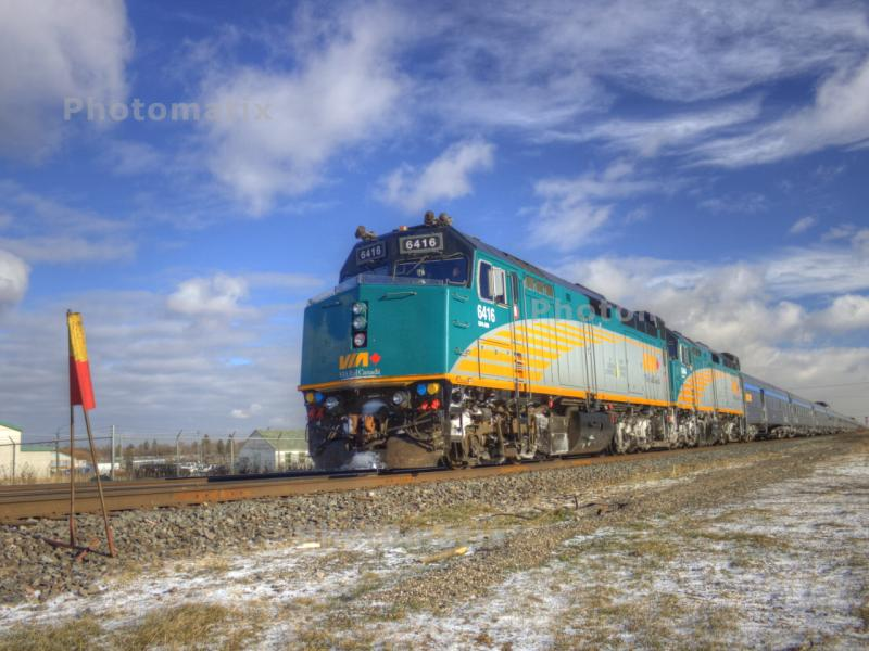 VIA 6416 as HDR in Winnipeg, MB