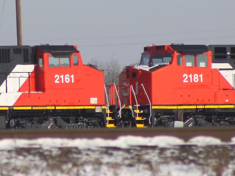 CN 2161 and 2181 in Winnipeg