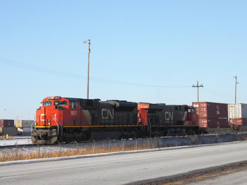 CN 8007 in Winnipeg