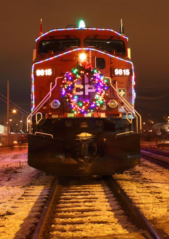 CP 9815 and the Holiday Train