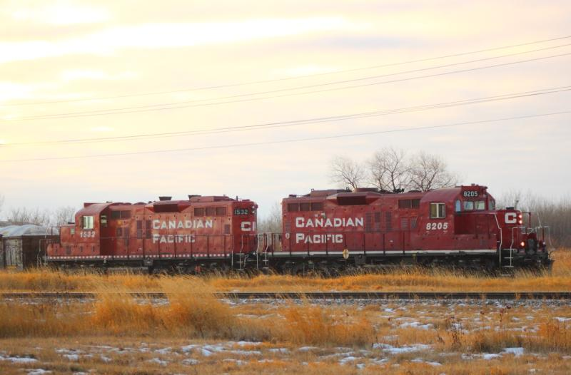 CP 1532 and CP 8205 in Winnipeg