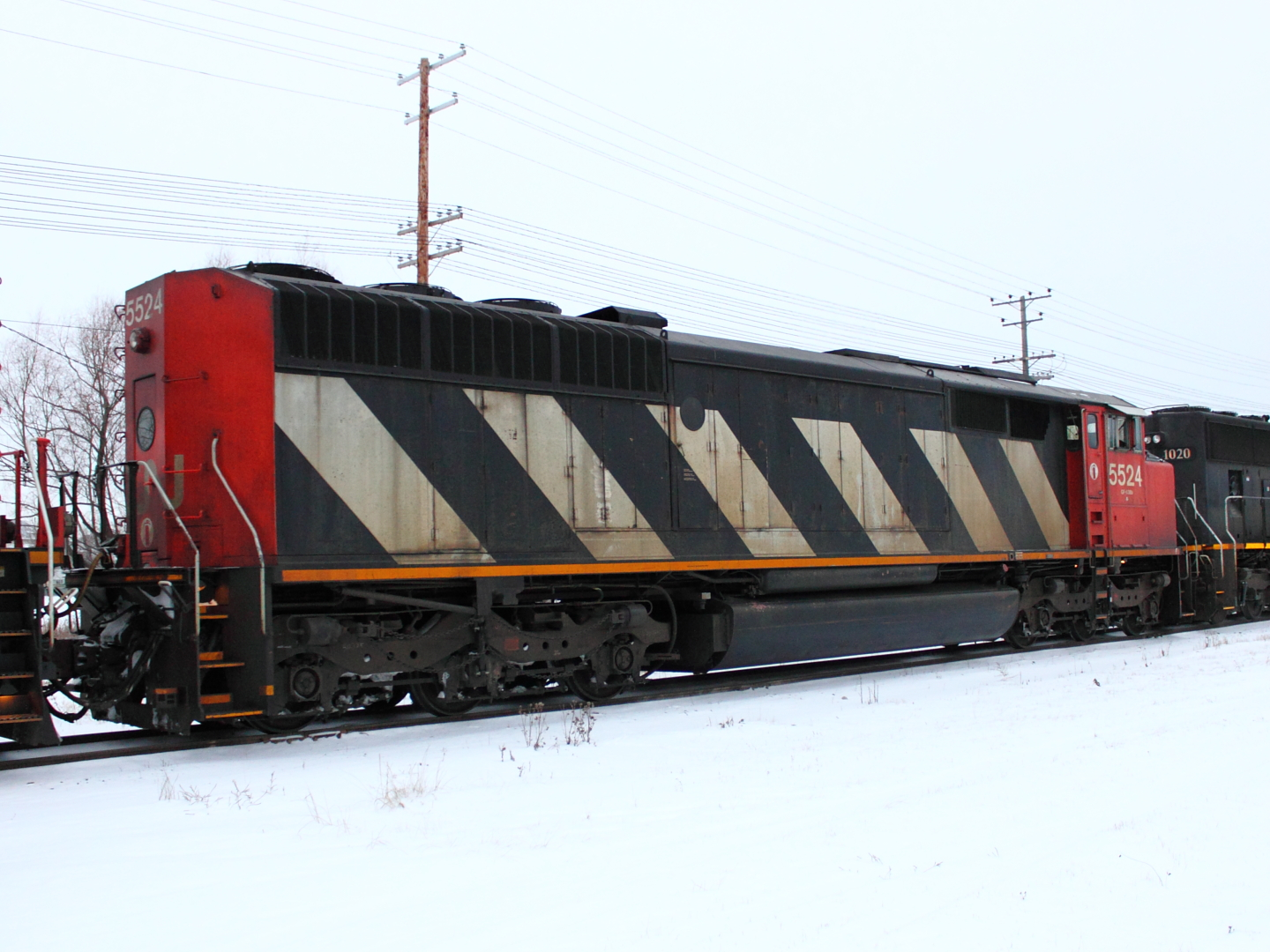 CN 5524 in Winnipeg, MB 2012/01/14