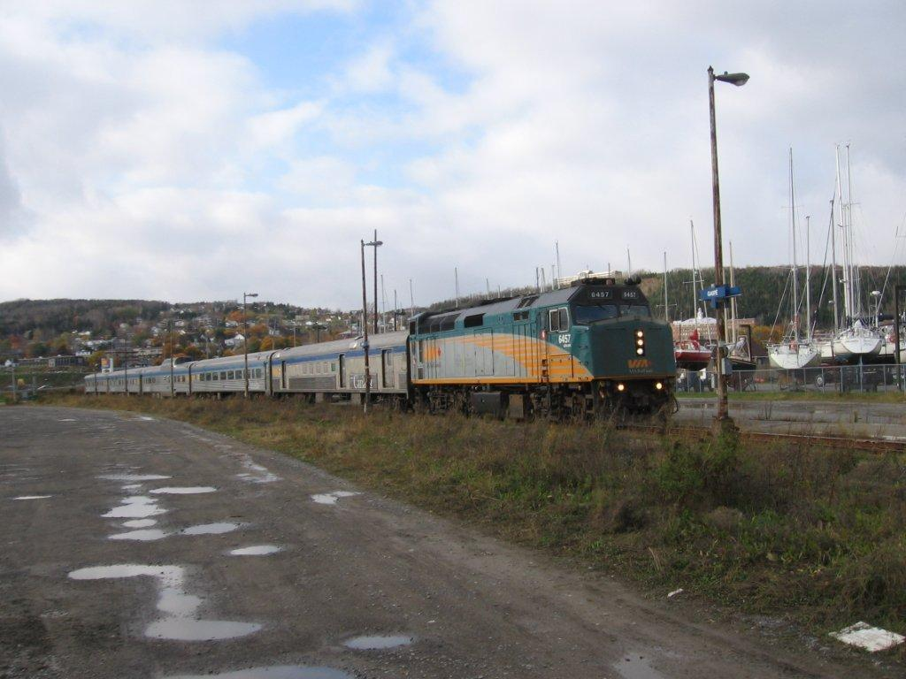 VIA 6457 in Gaspe, QC October 2011 by Bob Liming