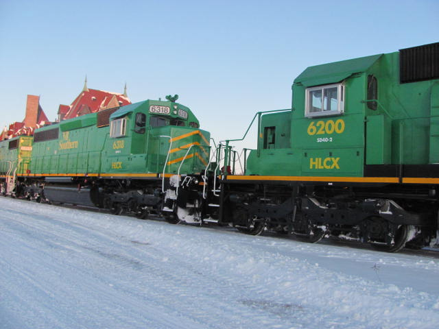HLCX 6200 and 6318 in McAdam, by Jody Robinson