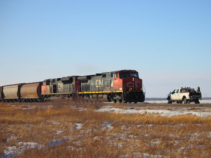 CN 2626 and pickup truck