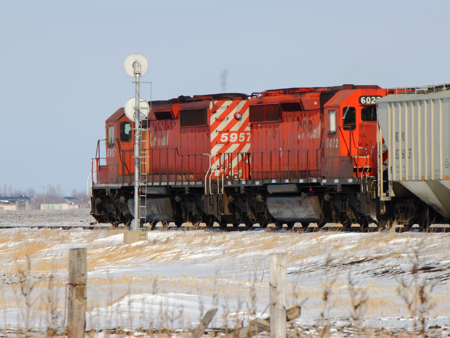 CP 6022 near Winnipeg, MB 2012/02/22