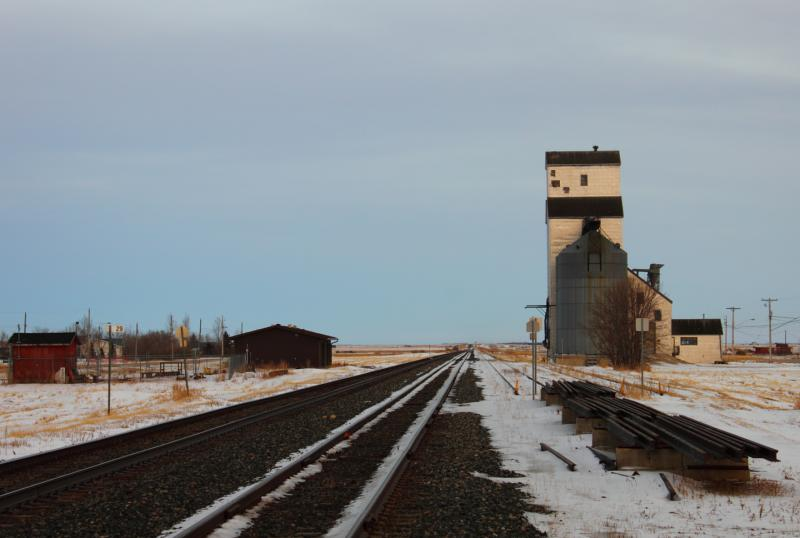 Grain elevator at Marquette