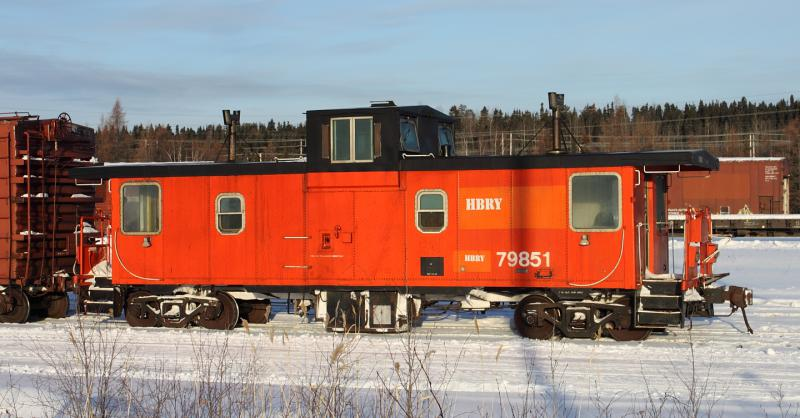 Caboose HBRY 79851 in Thompson Manitoba