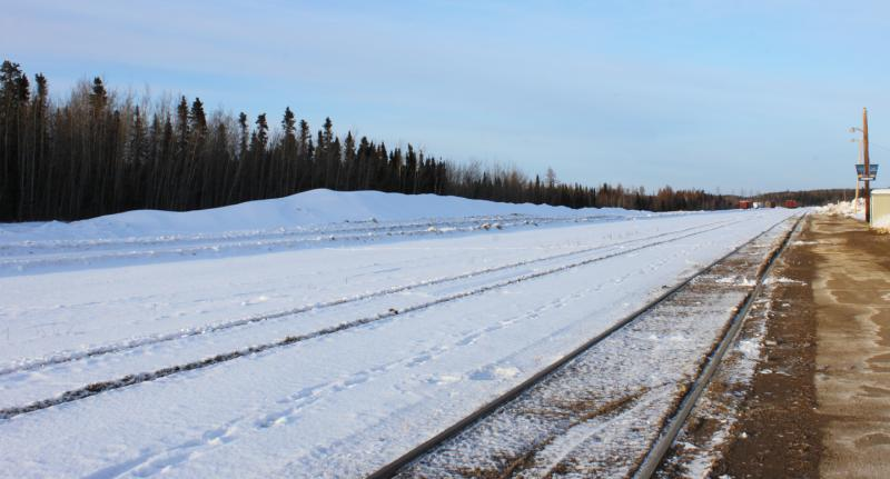 Rail yard in Thompson Manitoba