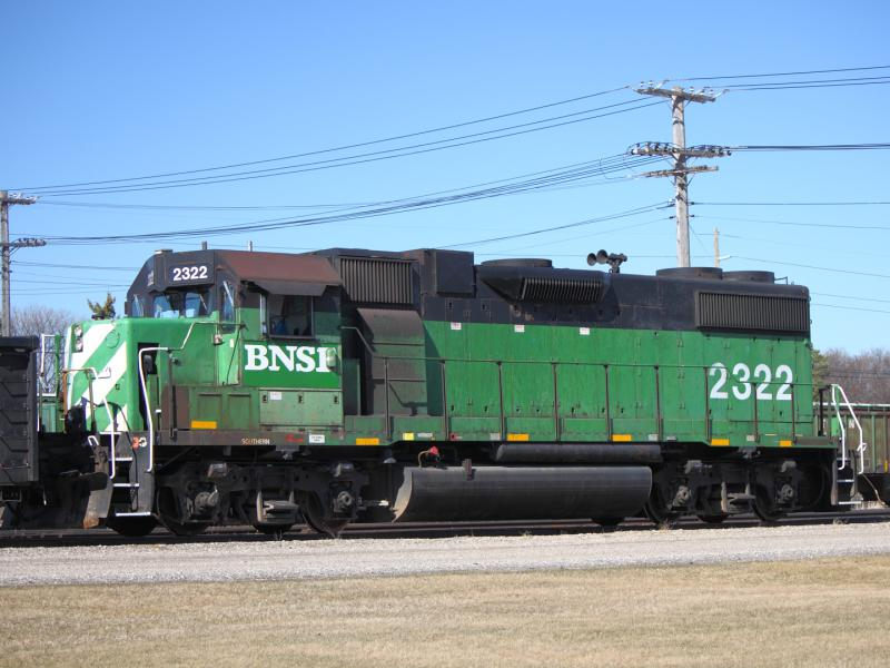 BNSF 2322 in Winnipeg