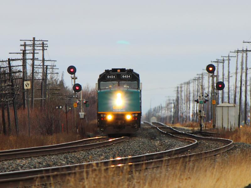 VIA 6454 in Winnipeg, MB 2012/03/24