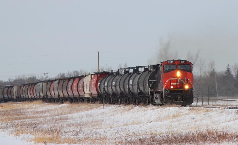 CN 2684 in St. Norbert Manitoba
