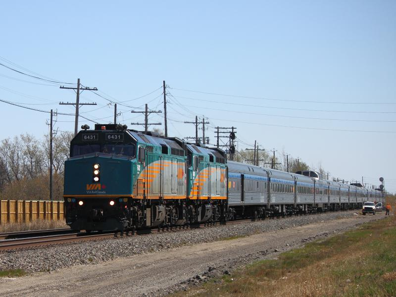 VIA 6431 in Winnipeg, MB 2012/04/26