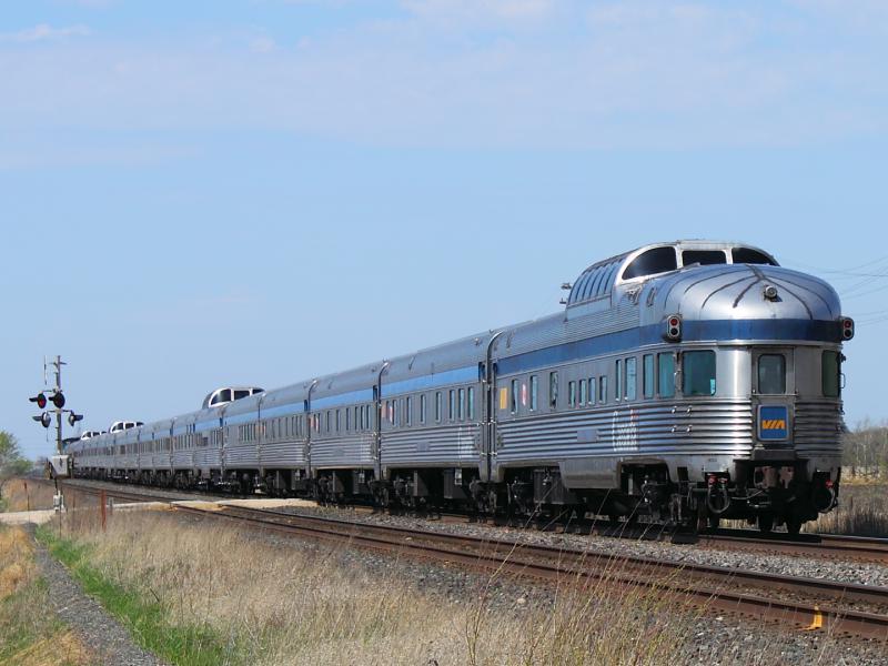 VIA Rail's Canadian in Winnipeg