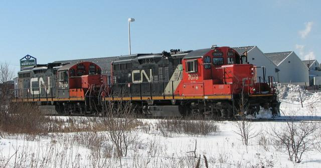 CN 7079 in Saint John, NB 2007/03/03