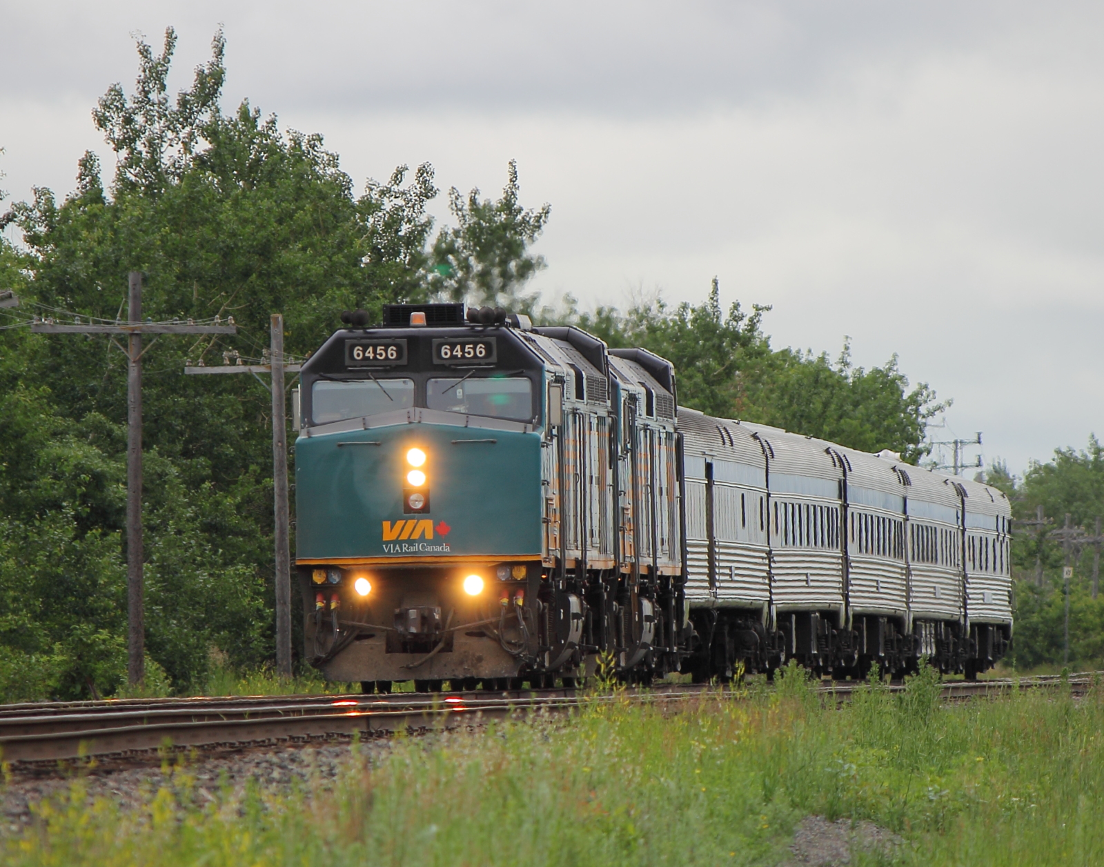 VIA 6456 in Winnipeg, MB 2012/06/19